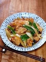 鶏肉と新玉ねぎの生姜焼き