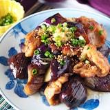 【タレが絶品生姜たっぷり】とろとろ茄子と豚こまのしょうが焼き