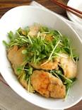 鶏むね肉と豆苗のバター醤油炒め(動画あり)