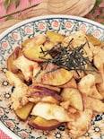 季節を楽しむ旬ごはん✿さつまいもと鶏むね肉のガリバタ炒め