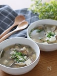 旨味たっぷり*6分火にかけるだけ♡あさりと豆腐のポカポスープ