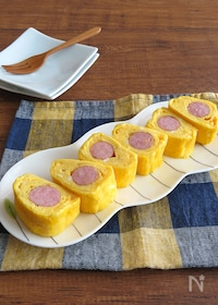 『簡単☆お弁当やおつまみに◎ウインナーの卵焼き☆チーズ入り♪』