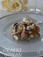 トリュフ香る 豚肉と茸のソテークリームチーズ和え