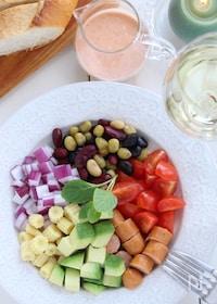 『チョリソーと蒸し豆とお野菜のメキシカンサラダ』