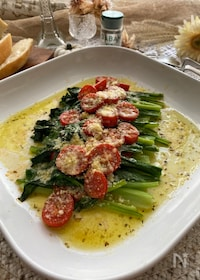 『茎も葉っぱもたまらないおいしさ!イタリアンな小松菜』