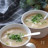 優しい味でめちゃ旨♡ふわとろ豆腐と長芋の味噌スープ