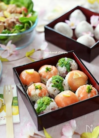 『春の手まり寿司(お花見弁当)』