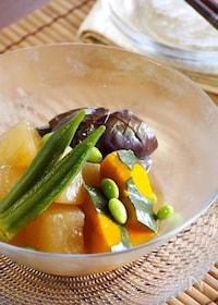 『ひんやり夏野菜の炊き合わせ』