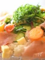 キンカンと生ハムのちらし寿司