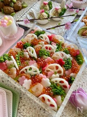 ひな祭りに!きらきら華やかな我が家のちらし寿司