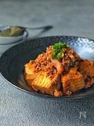 *絹揚げとひき肉のキムチ納豆煮*