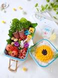 チーズのお花弁当【ちょびカワJK弁当・高校生弁当】