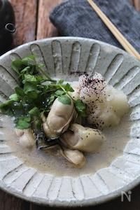 牡蠣のオイル蒸し。