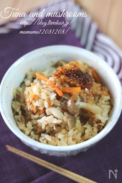 きのことツナの炊き込みご飯