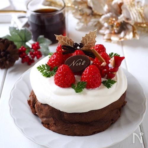 材料たった2つ!ほろ溶けチョコケーキ〜クリスマスバージョン
