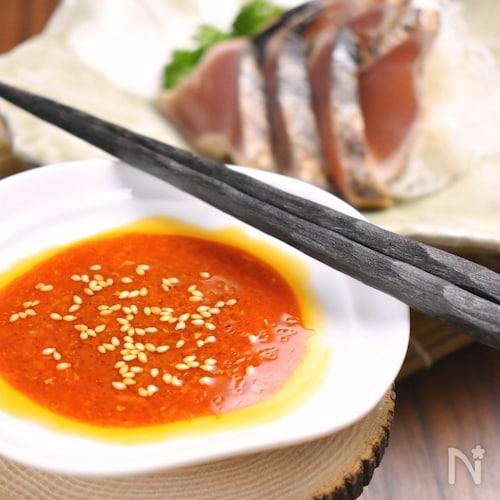 韓国の辛酸っぱい刺身醤油