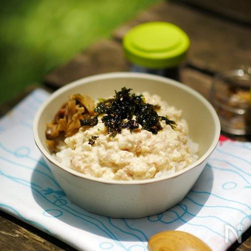 山のずぼら飯!ツナマヨ豆腐丼