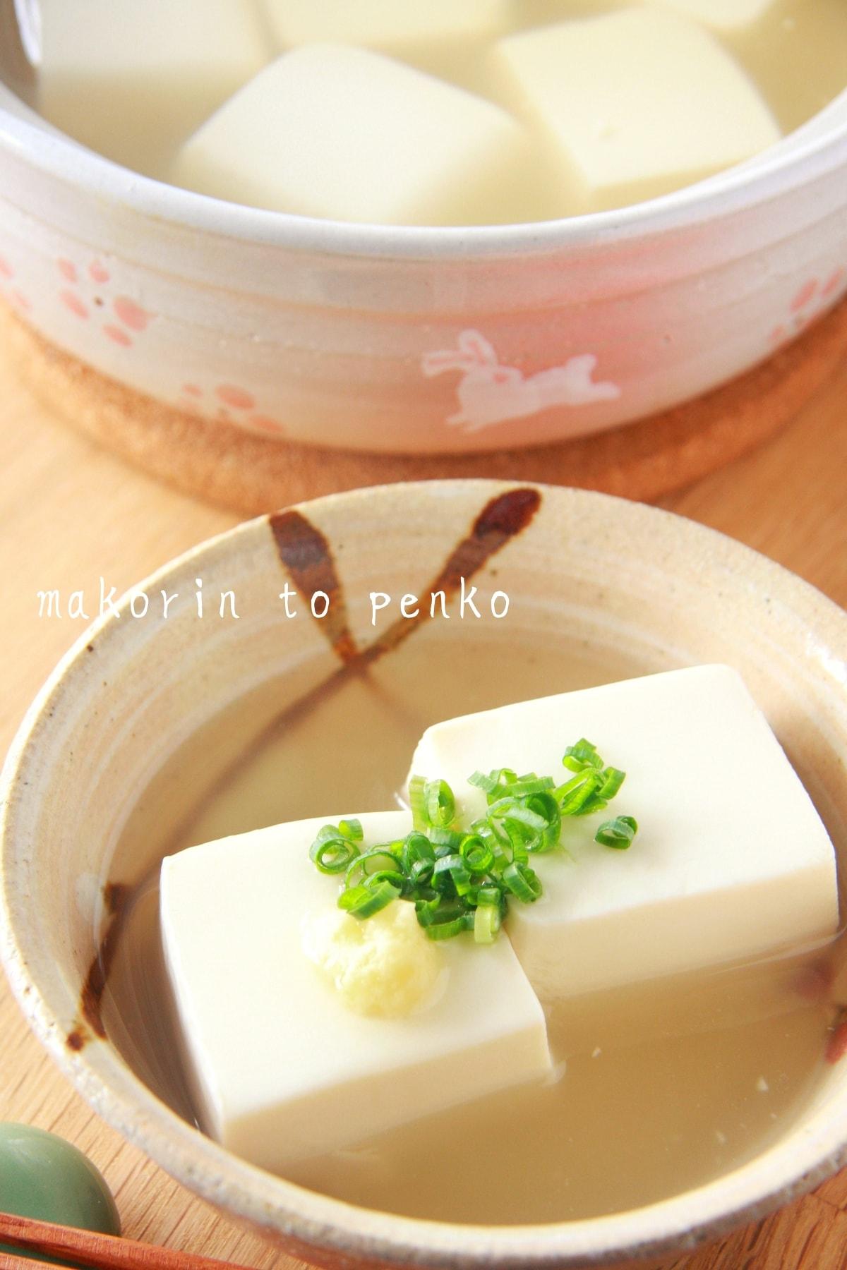 白 揚げ 出し だし 豆腐