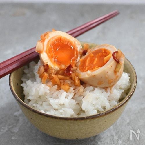 悪魔のピリ辛半熟卵