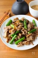 ご飯のっけも最高!『豚とアスパラとエリンギのとろみ中華炒め』