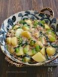 じゃがいもと小松菜とひき肉のとろみ煮