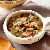 きのこ祭り開催♪たっぷりきのこのスープ
