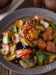 【ご飯に乗せたい】柔らか胸肉と彩り野菜の黒酢あん酢鶏