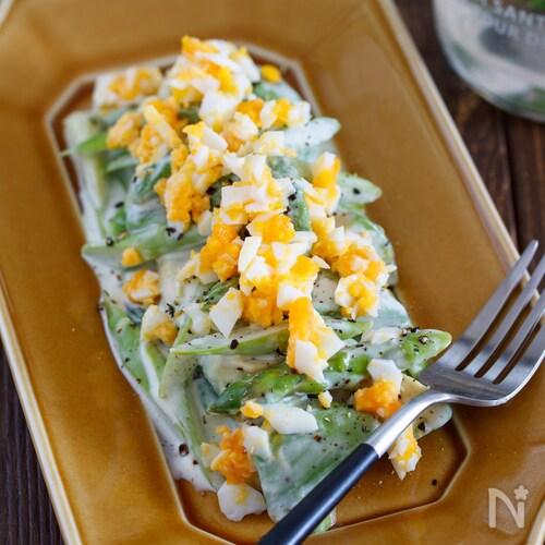 佐賀県産アスパラガスとアボカドのミモザ風サラダ