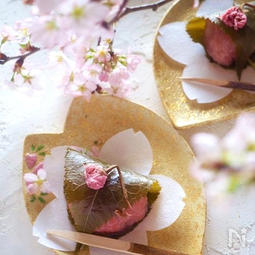 【簡単に電子レンジで作れる】関西風道明寺の桜餅
