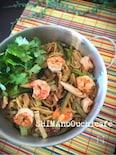 タイ風焼きそばパッタイ風 青菜とシーフードの焼きチャンポン