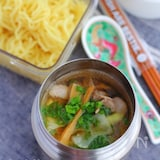 スープジャーで簡単!鶏がら醤油ラーメン