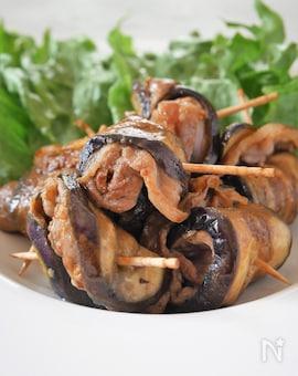 お弁当にも!なすと豚肉のくるくる焼きみそ味