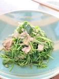 豆苗とツナの和え物、中華風