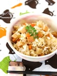 ひら天(さつま揚げ)と蓮根の生姜風味混ぜご飯。