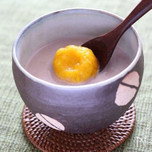 ココナッツミルク&かぼちゃ団子のお汁粉♪