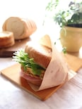 ラウンドパンで卵サンド