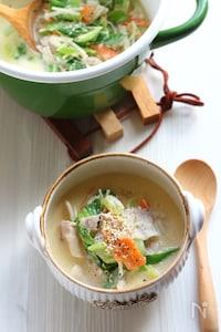ねりごま香る【中華風野菜たっぷりスープ】