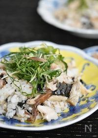 『焼き鯖の薬味混ぜご飯』