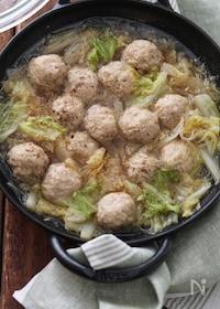 『ふんわり肉団子と白菜の中華煮込み。』