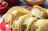 タコスキットで♡春キャベツとひき肉のメキシカン炒めでタコス