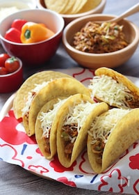 『タコスキットで♡春キャベツとひき肉のメキシカン炒めでタコス』