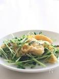 豆苗と卵のほんのり中華風炒め物☆