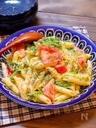 【リピート確定!!】豆苗とトマトのペンネサラダ