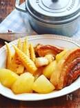 やわらか豚バラチャーシューと筍と大根の煮物