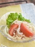 新玉ねぎとツナトマトの中華風サラダ