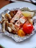 トースターで簡単!鮭のにんにくホイル焼き