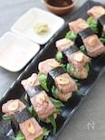 ちょっと贅沢に♡ガーリックライスでにぎるがっつりステーキ寿司