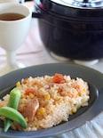 トマトとコーンの炊き込みご飯