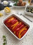 夏野菜パプリカでレモンをきかせたペペロナータ