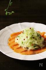 スモークサーモンと玉ねぎのサラダ